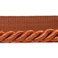 "Gloria 1/4"" Metallic Twisted Lip Cord Trim Metallic Copper"