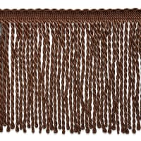 Lettie Skinny Bullion Fringe Trim Chocolate