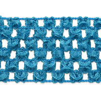"1 3/4"" Crochet Stretch Trim Light Blue"