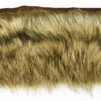 Faux Fox Fur Trim Light Brown