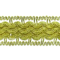 Calista Woven Metallic Trim Gold