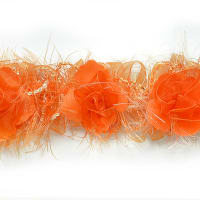 Mya Flower Trim Bright Orange