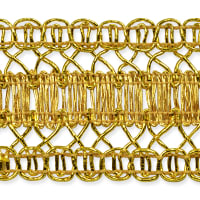 Kaylee Metallic Braid Trim Gold