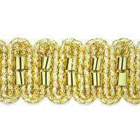 Hermes Metallic Braid Trim Gold