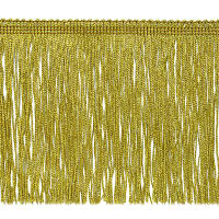 "6"" Metallic Chainette Fringe Trim Gold"