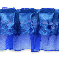 Ruffle Trim Blue