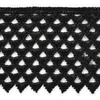"Extended Magdalena Lace Trim 3"" Black"