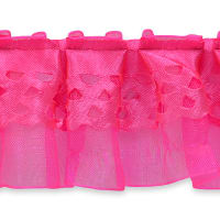 Ruffle Trim Hot Pink