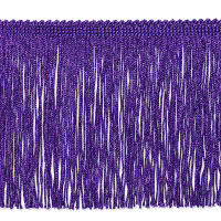 "6"" Metallic Chainette Fringe Trim Purple"