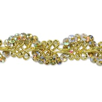 Lila Sequin Loop Braid Trim Gold