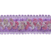Darcey Sequin Stretch Trim Lavender