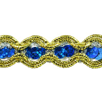River Sequin and Cord Trim Royal Blue