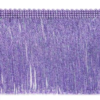 "6"" Metallic Chainette Fringe Trim Lilac"