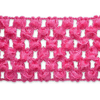 "1 3/4"" Crochet Stretch Trim Hot Pink"