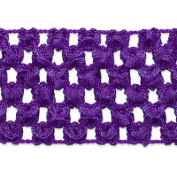 "1 3/4"" Crochet Stretch Trim Purple"