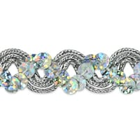 Reba Ric Rac Sequin Braid Trim Silver