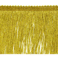 "4"" Metallic Chainette Fringe Trim Gold"