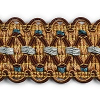 Nancy GimpTrim Brown Multi