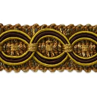 Collette Woven Braid Circle Trim Brown/ Cinnamon