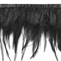 Julie Feather Fringe Trim Black
