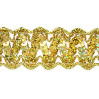 Nikki Sequin Metallic Braid Trim Gold