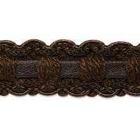 Faux Leather Braid Trim Chocolate (Precut, 20 Yards)
