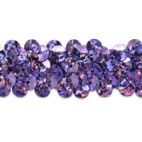 "2 Row 7/8"" Starlight Hologram Stretch Sequin Trim Lavender (Precut, 20 Yards)"