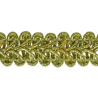 Alice Classic Woven Braid Trim Metallic Gold (Precut, 20 Yards)