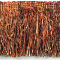 Chenille Cut Fringe Trim Cinnamon Multi (Precut, 10 Yards)