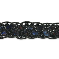 Thea Sequin Braid Cord Trim Black (Precut, 20 Yards)