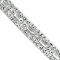"Alejandra 1/4"" Emerald-cut Rhinestone Iron-on Trim Crystal (Precut, 10 Yards)"
