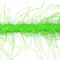 Pippa Eyelash Fringe Trim Lime (Precut, 10 Yards)