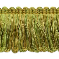 Madeline Loop Fringe Trim Brown/ Sage (Precut, 20 Yards)