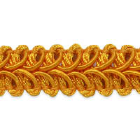 Alice Classic Woven Braid Trim Yellow Gold (Precut, 20 Yards)