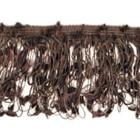 Fiber Patch Fringe Trim Chocolate (Precut, 10 Yards)