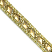 "Valentina Rhinestone Chainlink Iron-On Trim 5/8"" Gold (Precut, 10 Yards)"