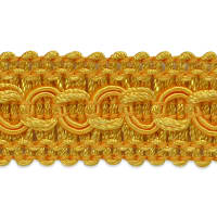 Sheena Woven Circle Braid Trim Yellow Gold (Precut, 20 Yards)