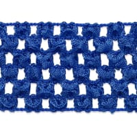 "1 3/4"" Crochet Stretch Trim Royal Blue (Precut, 20 Yards)"