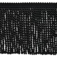 "Riley 5 3/4"" Bullion Fringe Trim Black (Precut, 10 Yards)"