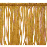 "6"" Chainette Fringe Trim Gold (Precut, 20 Yards)"