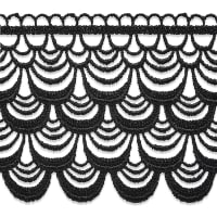 Sexy Layer Embroidery Trim Black (Precut, 13 Yards)