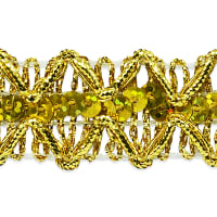 Sheba Diamond Sequin Braid Trim Gold (Precut, 20 Yards)