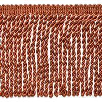 "Riley 5 3/4"" Bullion Fringe Trim Cinnamon (Precut, 10 Yards)"