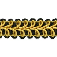 Alice Classic Woven Braid Trim Gold Multi (Precut, 20 Yards)