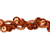 Alison Wavy Sequin Braid Trim Orange (Precut, 20 Yards)