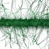 Pippa Eyelash Fringe Trim Christmas Green (Precut, 10 Yards)