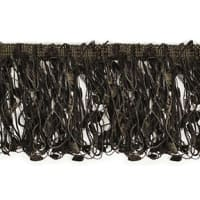 Fiber Patch Fringe Trim Brown (Precut, 10 Yards)
