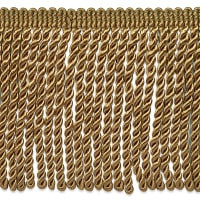 "Riley 5 3/4"" Bullion Fringe Trim Brown (Precut, 10 Yards)"