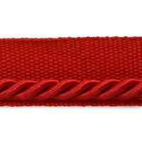 "Ebony 1/8"" Twisted Lip Cord Trim Red (Precut, 20 Yards)"