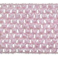 "2 3/4"" Crochet Stretch Trim Pink (Precut, 20 Yards)"
